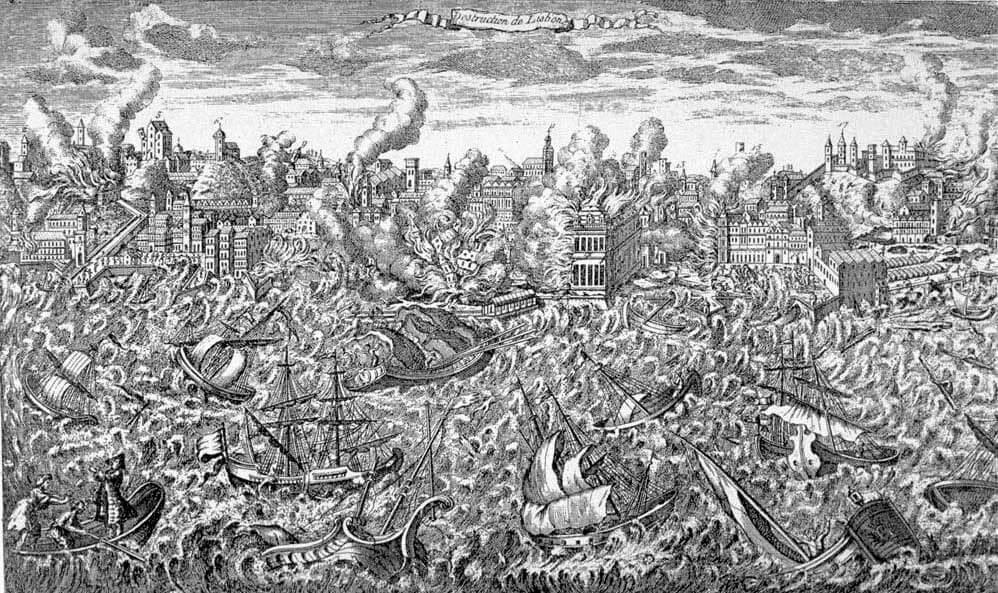 Ilustración del terremoto de Lisboa