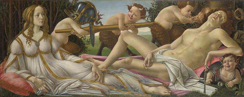 """Cuadro """"Venus y Marte"""" de Botticelli"""