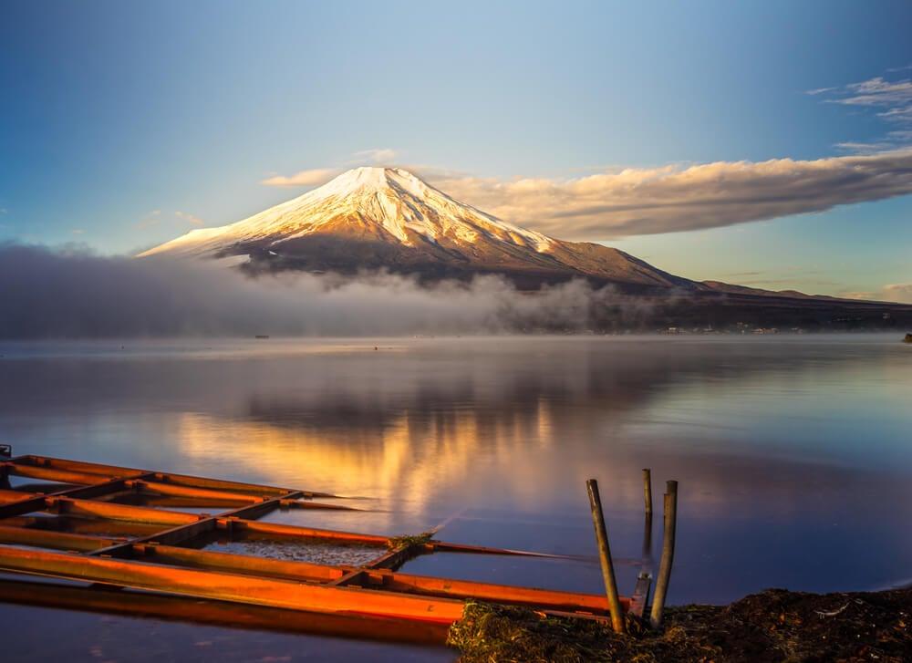 Monte Fuji en uno de los parques naturales de Asia