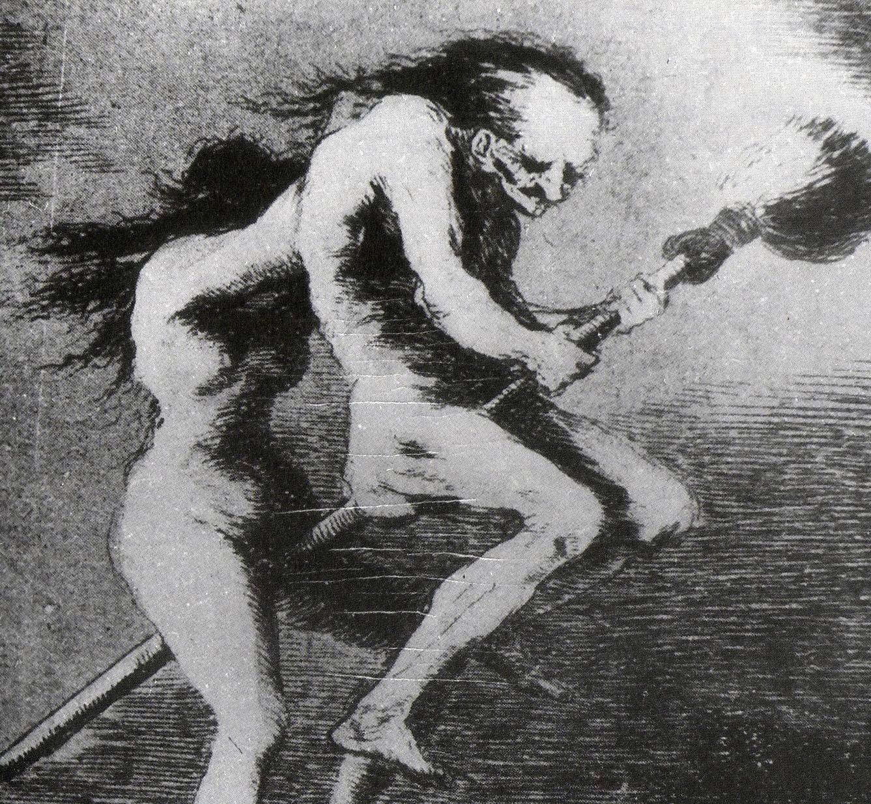 Representación de una bruja