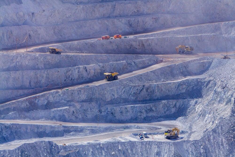 Camiones en la mina