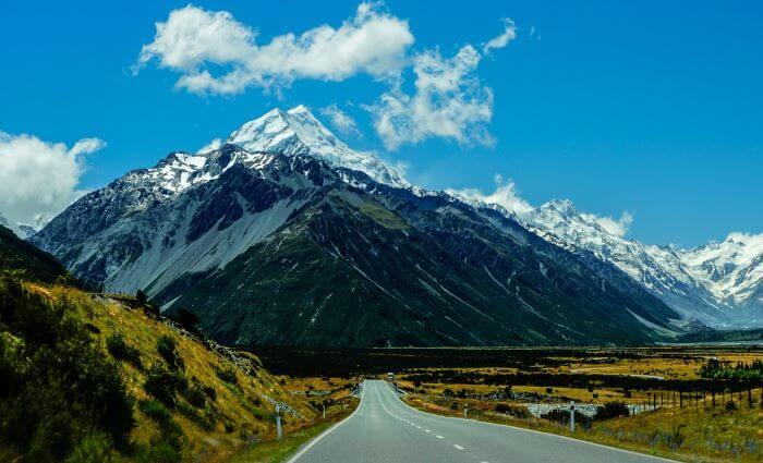 Carretera Alpes Neozelandeses