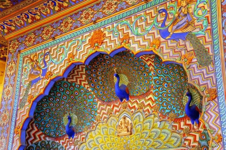 Influencia del pavo real en la arquitectura de India
