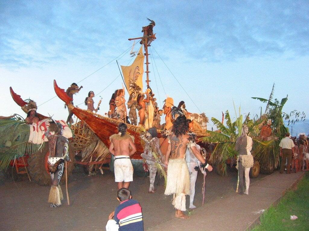 Desfile en Tapati Rapa Nui