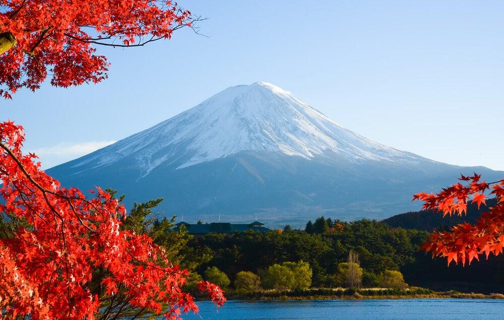 Monte Fuji en uno de los parques nacionales de Japón