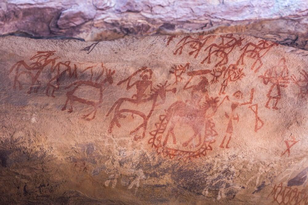 Las pinturas rupestres de Bhimbetka en la India