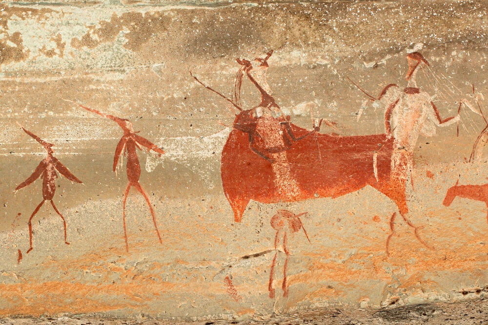 Pinturas rupestres en el parque Ukhahlamba-Drakensberg