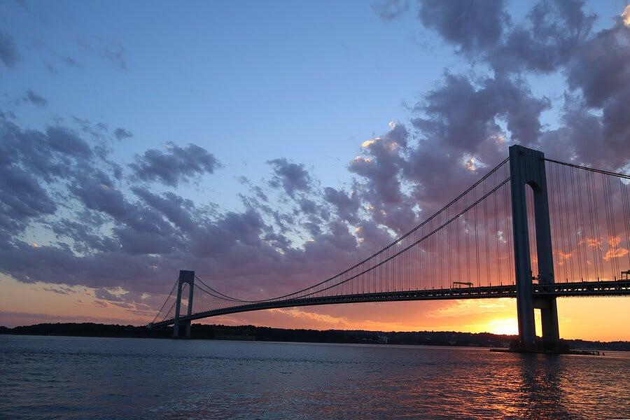 Vista del puente Verrazano, en Staten Island.