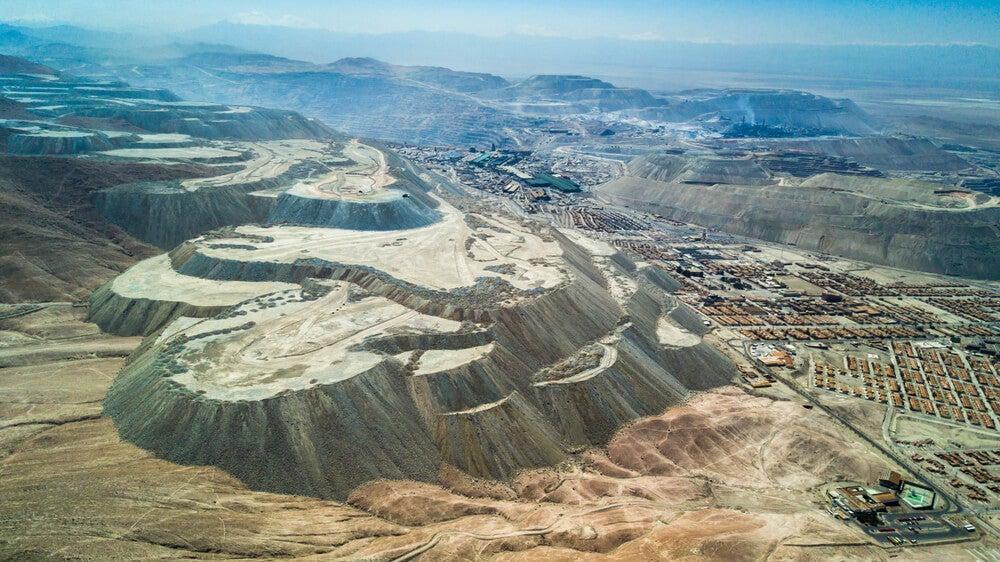 Vista aérea de Chuquicamata