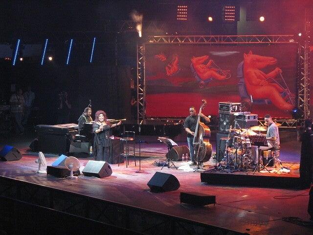 Actuación en el festival de jazz de Vienne