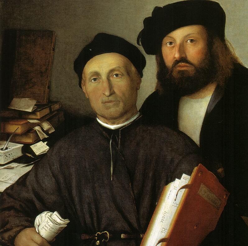 Agostino della Torre y su hijo Niccoló