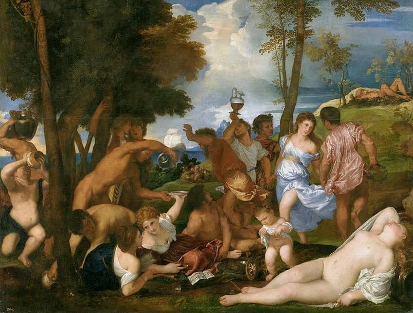 'La bacanal' de Tiziano