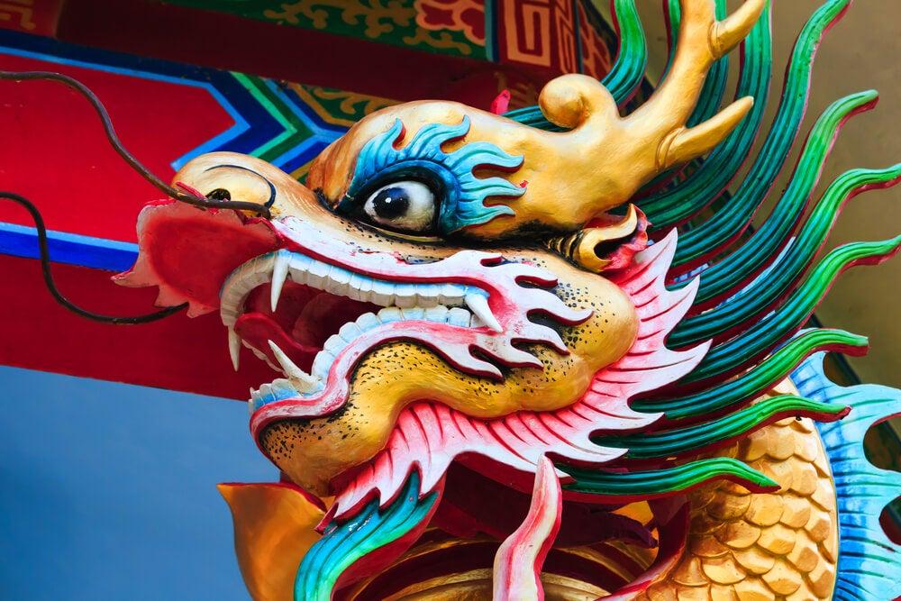 Cara de dragón chino