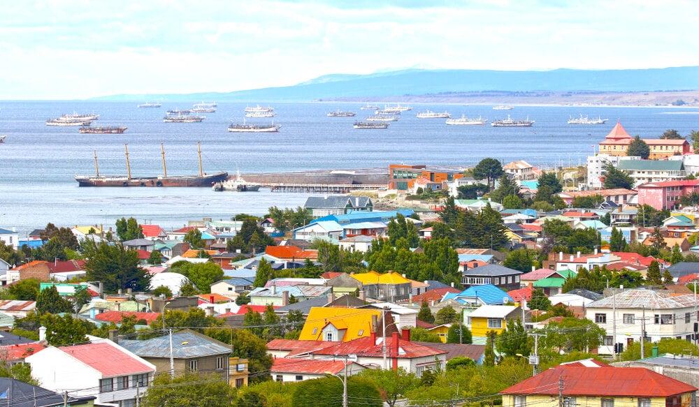 La ciudad de Punta Arenas en la región de Magallanes