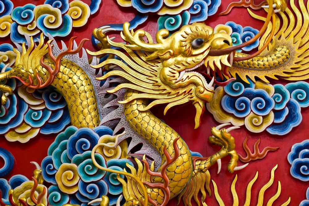 Dragón chino en un templo