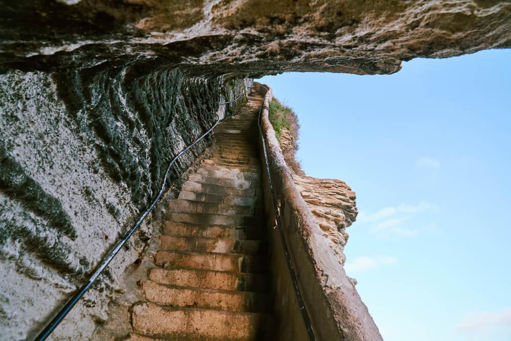 Interior de la escalera