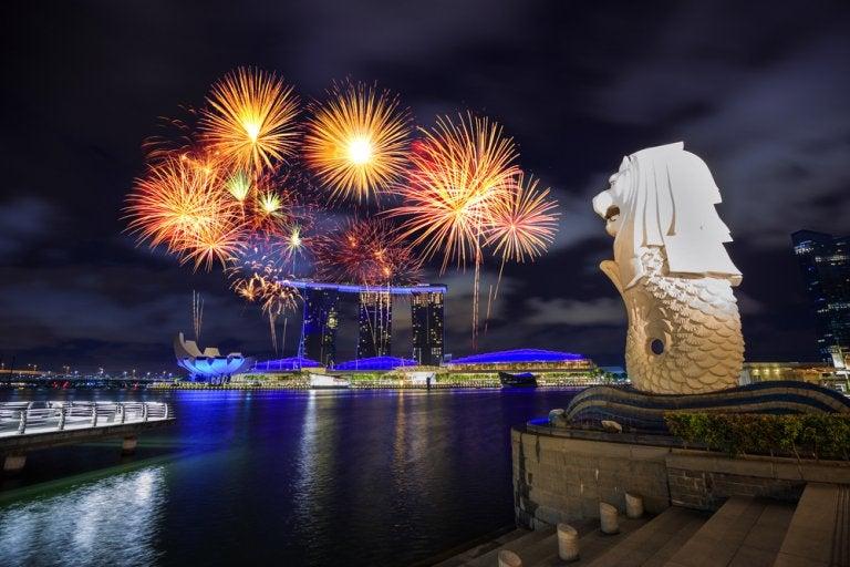 Disfruta de los espectáculos de luz de Singapur