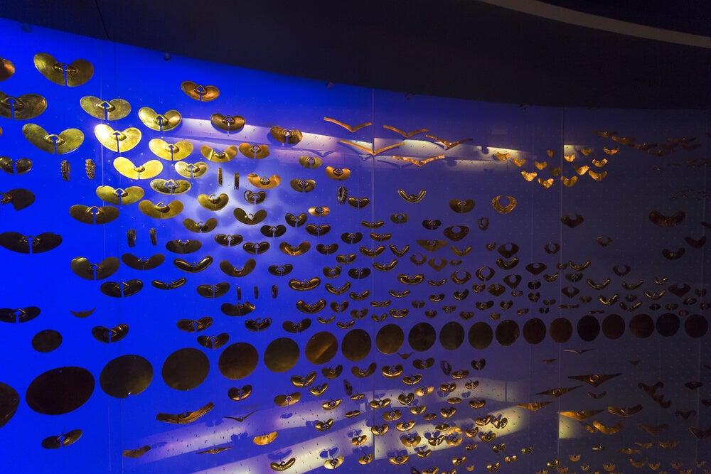 Expositor en el Museo del Oro de Bogotá