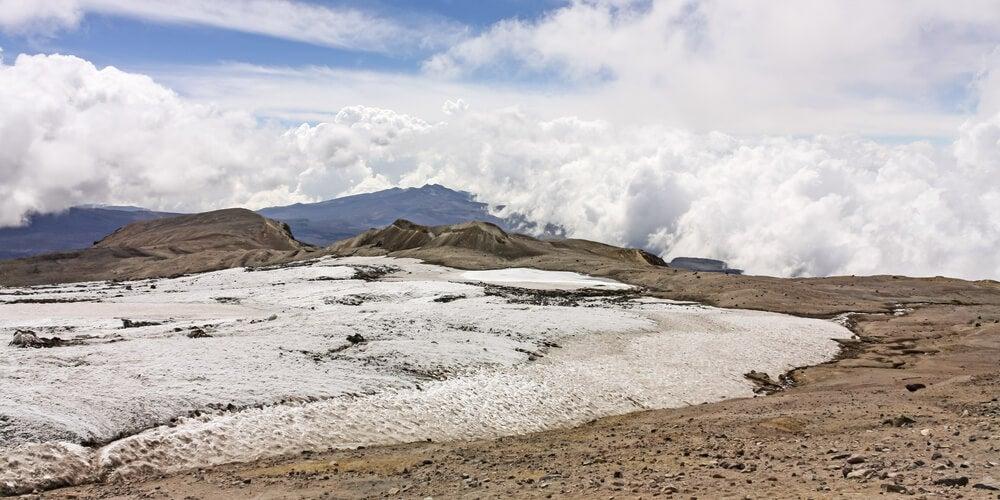 Glaciar en el Nevado del Ruiz