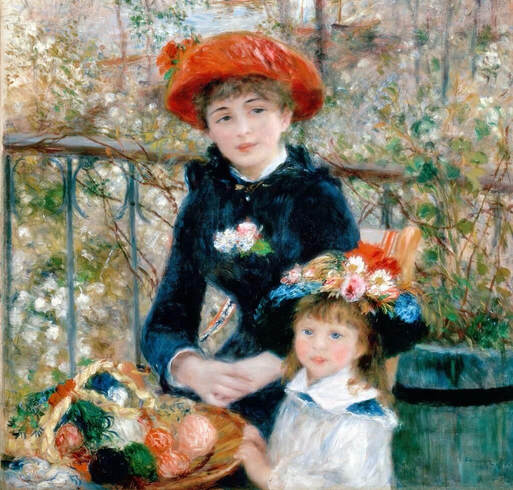'Hermanas en la terraza' de Renoir