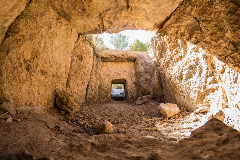 Interior de un dolmen