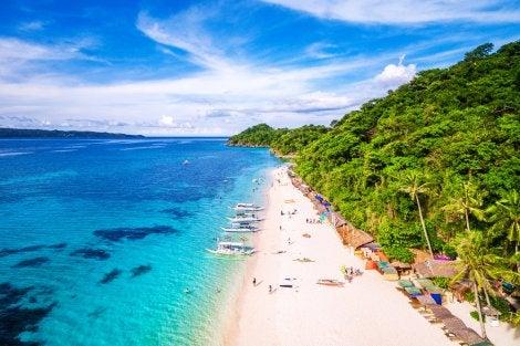 Playa en la isla Boracay