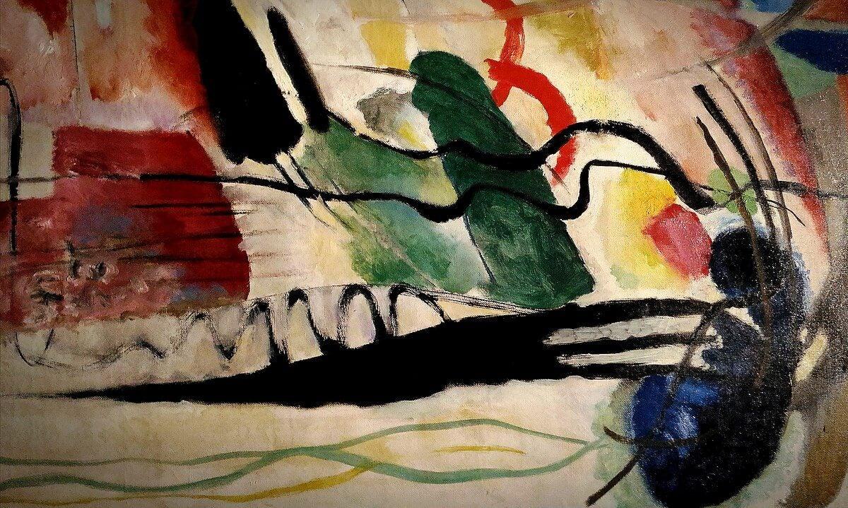 Obra de arte abstracto de Kandinsky
