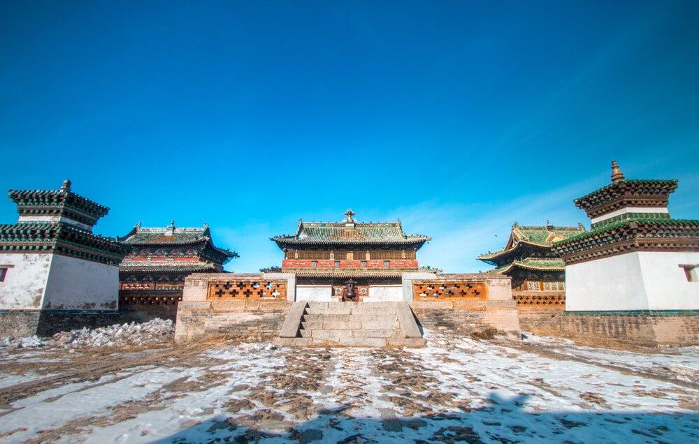 Templo en Karakórum originario del Imperio mongol