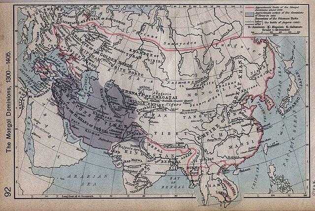 Mapa de los imperios mongoles