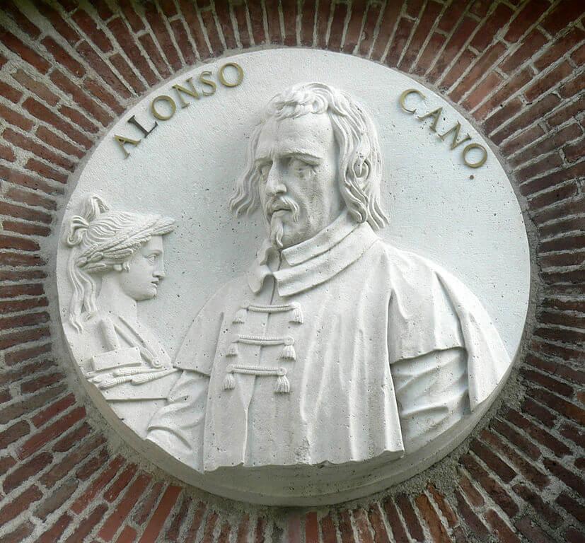 Medallón de Alonso Cano en el Museo del Prado