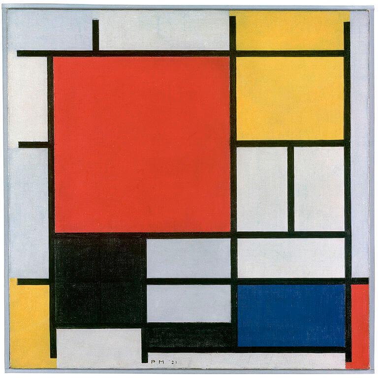 Composición en rojo, amarillo, azul y negro de Mondrián