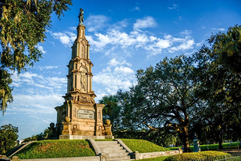 Monumento conmemorativo de la Confederación en Savannah