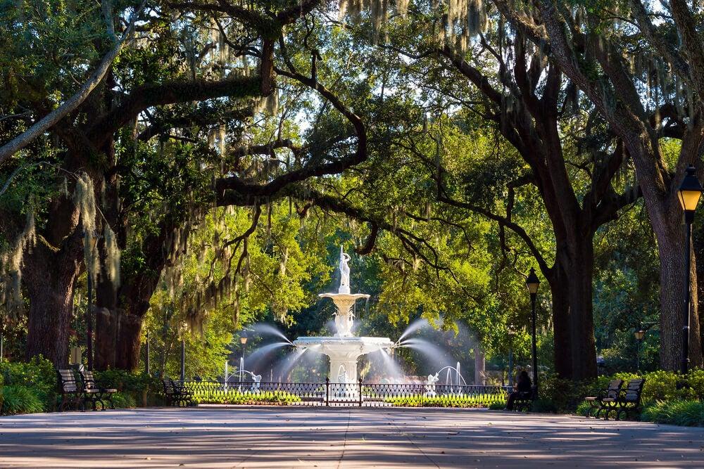 Visita el parque Forsyth, el más grande de Savannah