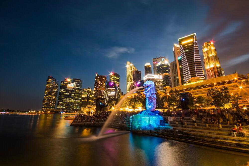 Parque Merlion para ver los espectáculos de luz de Singapur