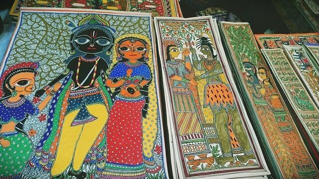 Ejemplo de pintura Madhubani
