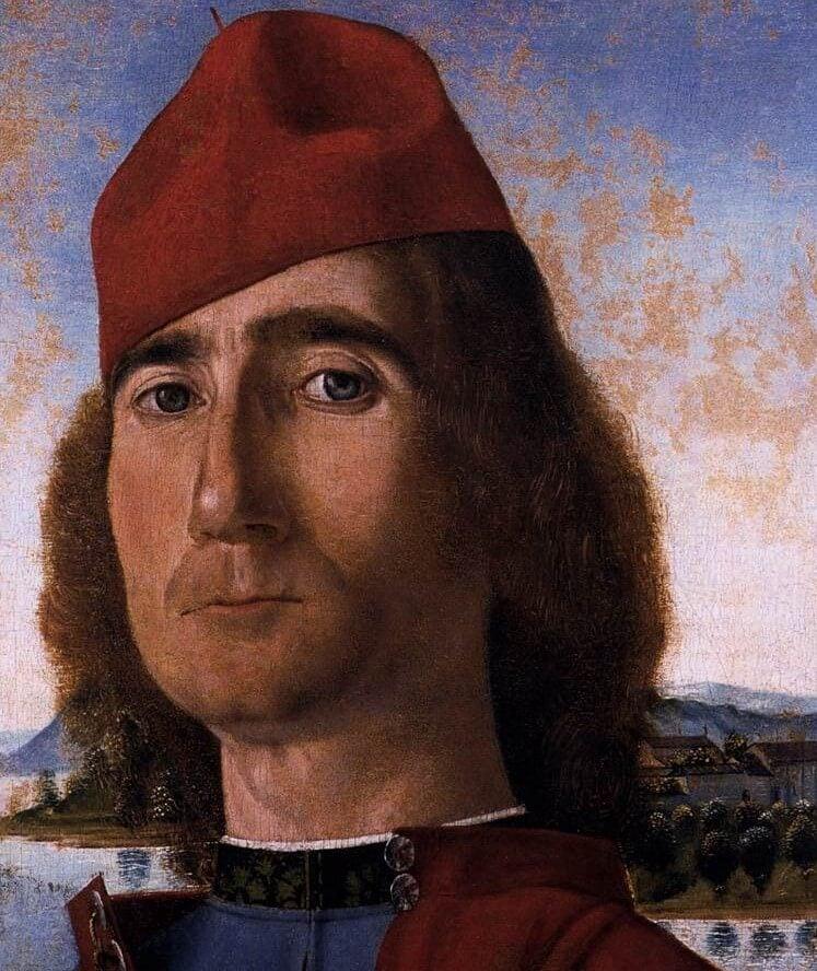 Retrato de hombre con gorro rojo