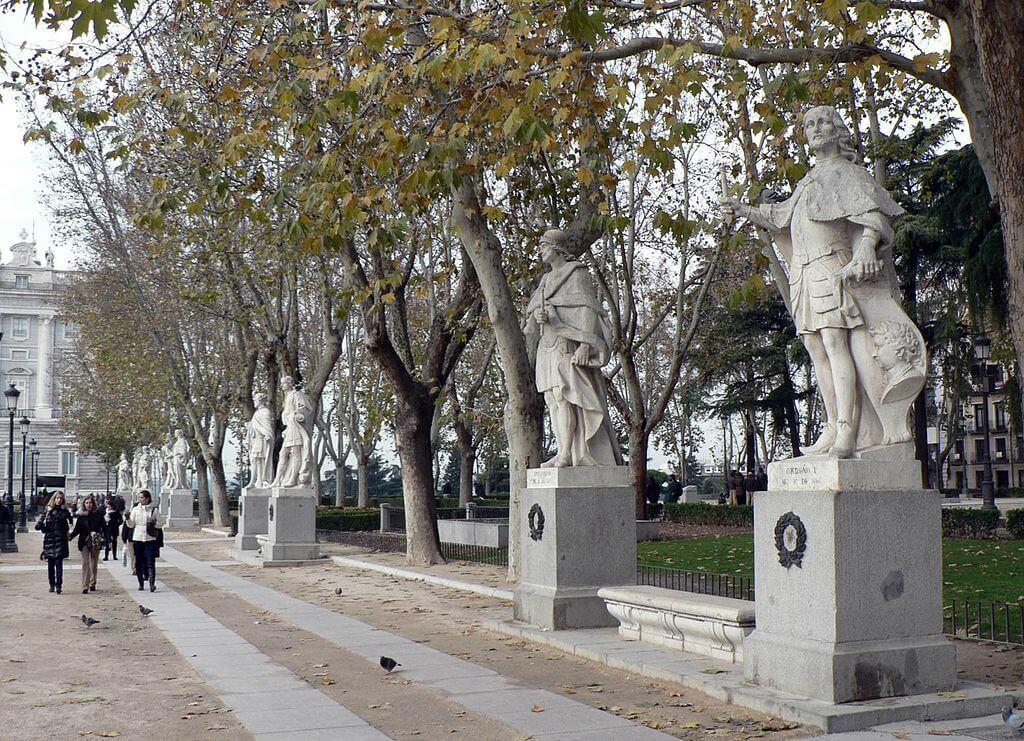 Reyes godos en la Plaza de Oriente de Madrid