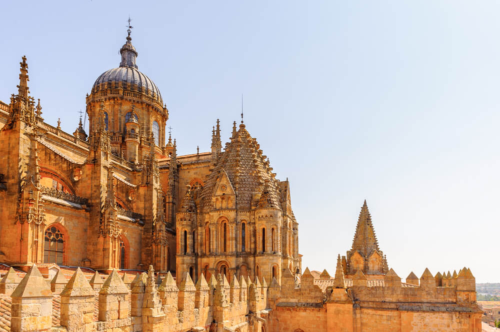 Tejados de la catedral salmantina