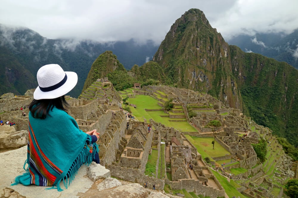 Viajera en Machu Picchu