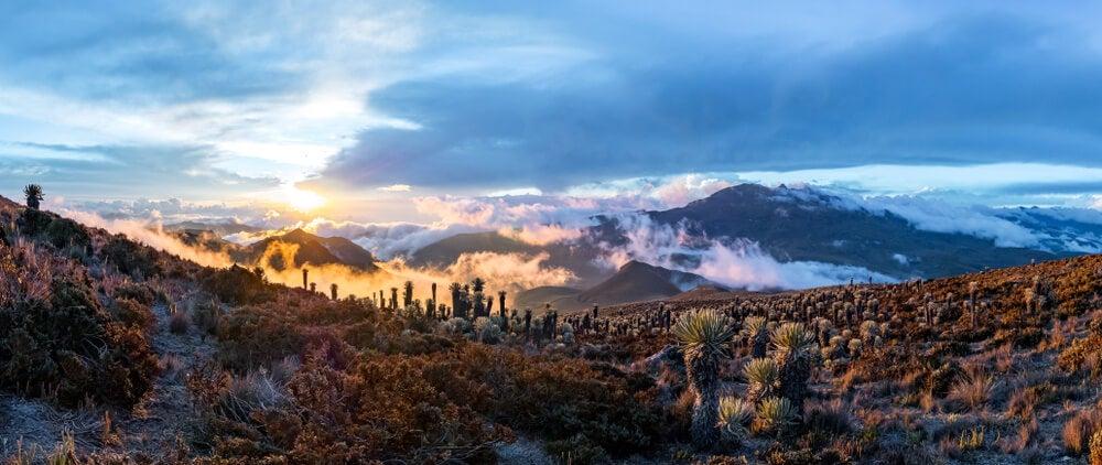 Volcán Tolima en el Parque Natural Los Nevbados