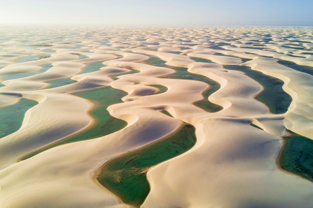 Vista aérea de Lençois Maranhenses