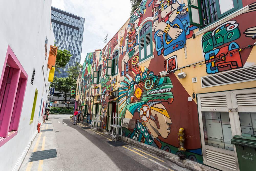 Conoce el singular arte urbano de Singapur