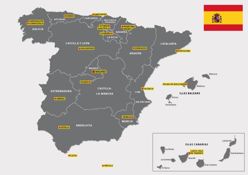 Mapa de autonomías