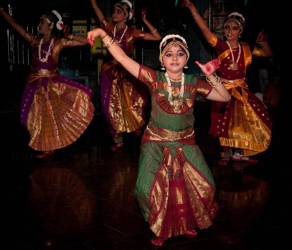 Bailarinas en el festival
