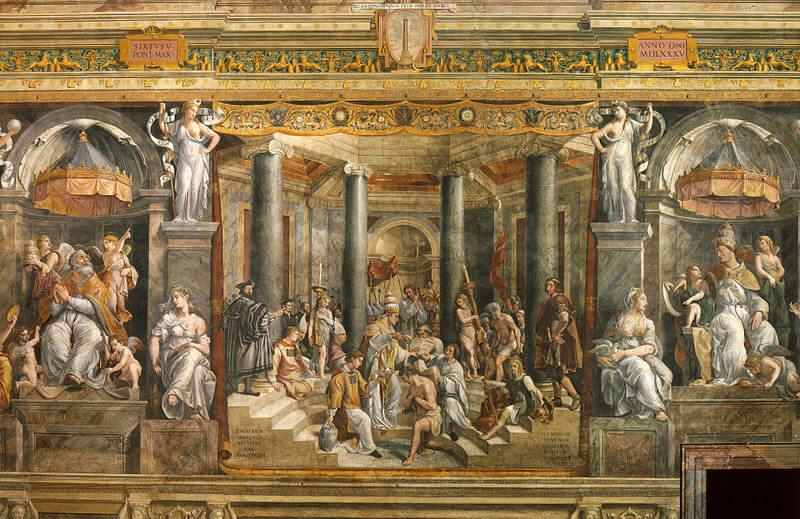 'Bautismo de Constantino' de Rafael