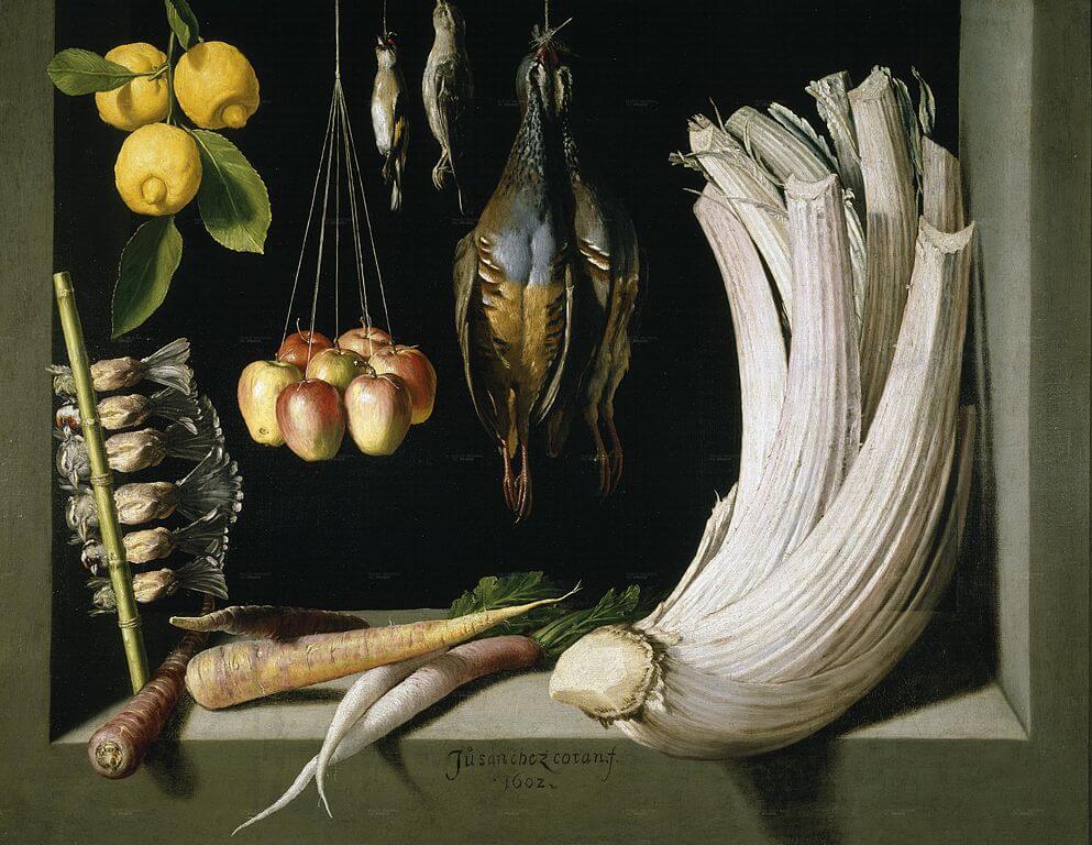 'Bodegón de caza,fruta y hortlizas'