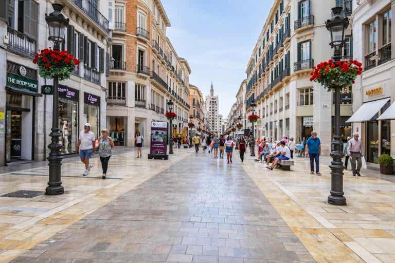 Conoce la calle Marqués de Larios en Málaga