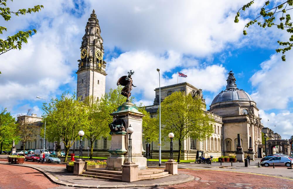 Vista de Cardiff en el Reino Unido