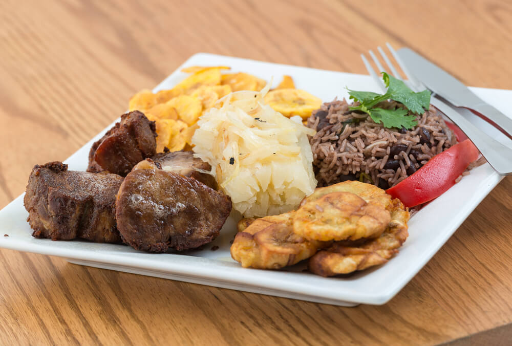 Cerdo asadotípico de la comida cubana