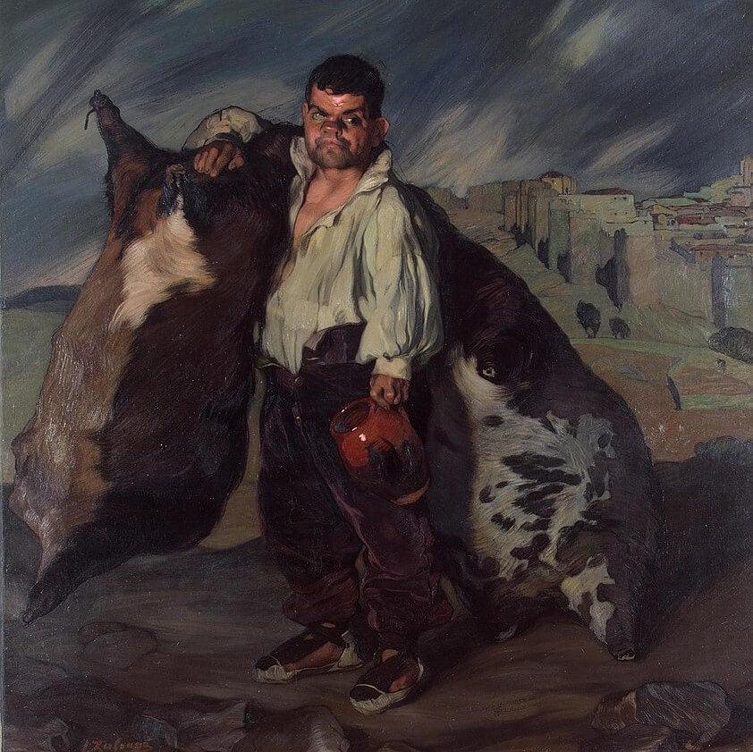 'El enano Gregorio el Botero' de Ignacio Zuloaga